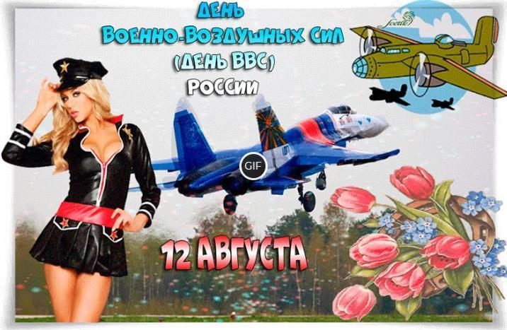 Гифки с днём ВВС России