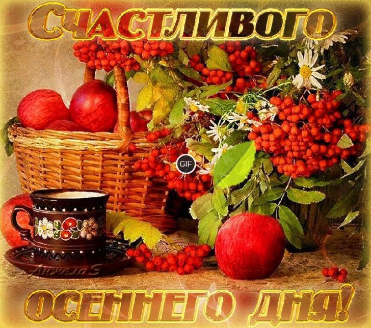 Картинки с пожеланиями доброго осеннего дня
