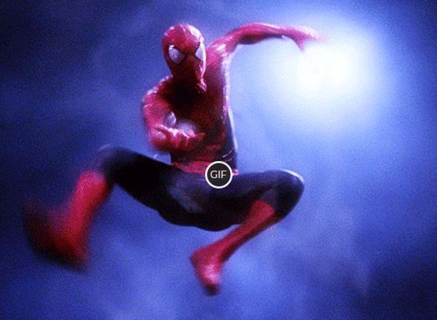 Гифки Человека-Паука стреляющего паутиной