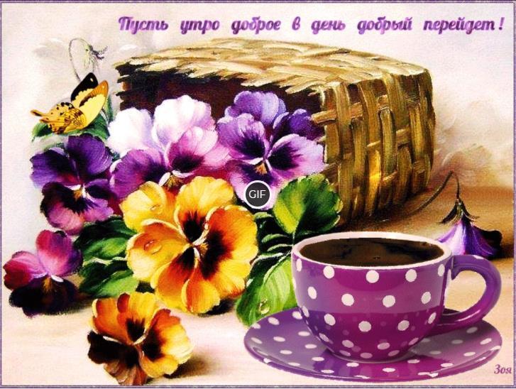 Открытки хорошего утра и настроения