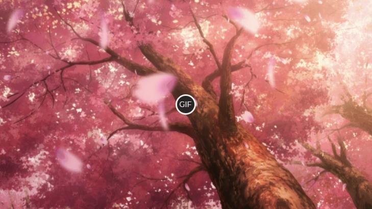 Гифки аниме природа