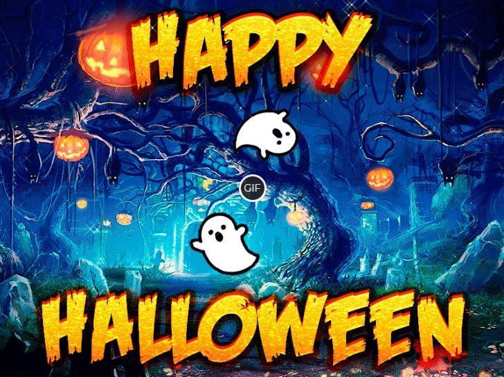 Гифка счастливого Хэллоуина