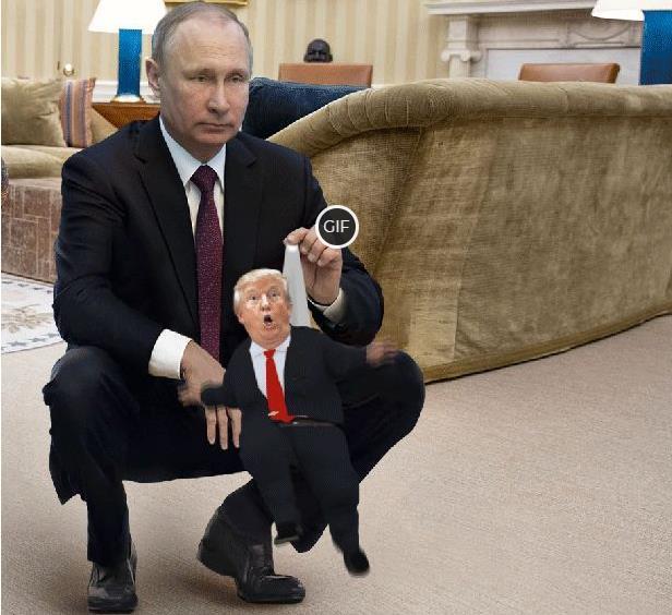 Гифка Путин управляет Трампом
