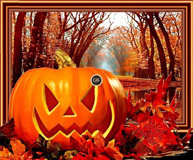 Анимированные картинки с тыквами на Хэллоуин