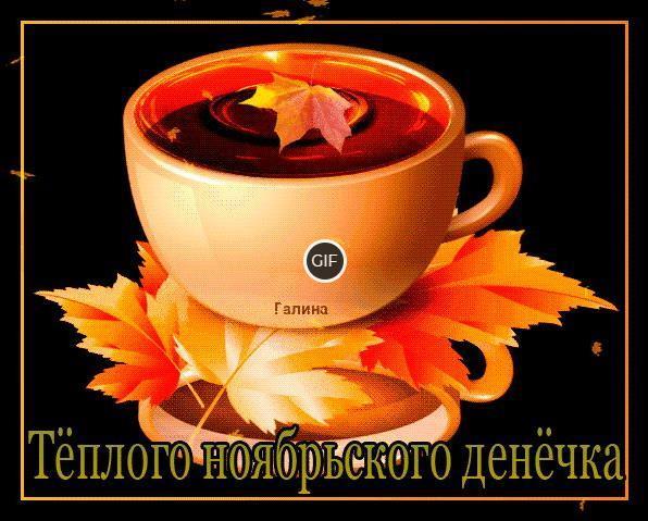 Анимированные картинки доброго Ноябрьского дня