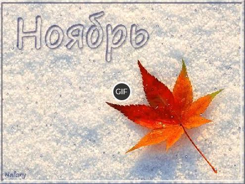 Ноябрь гифки