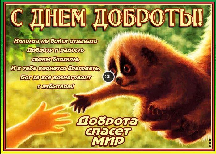 Гифки с днём доброты 13 ноября