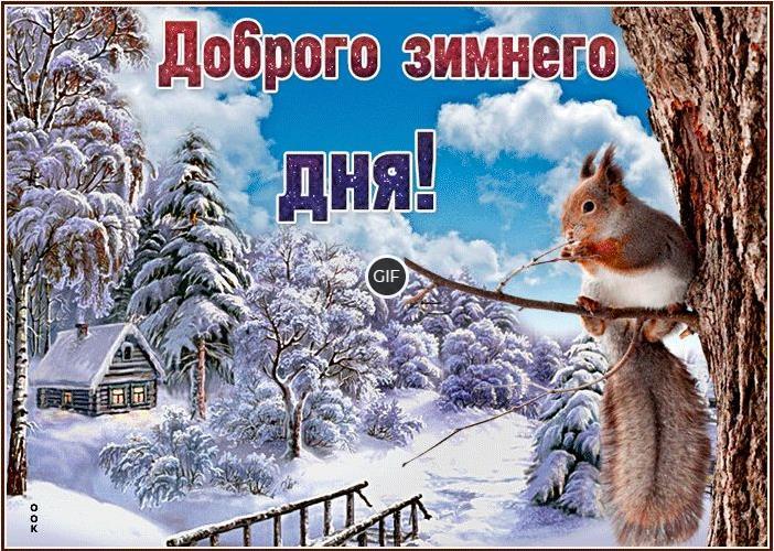 Доброго зимнего дня гиф