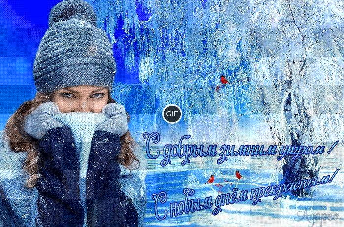 Открытки с добрым зимним утром и хорошим днём