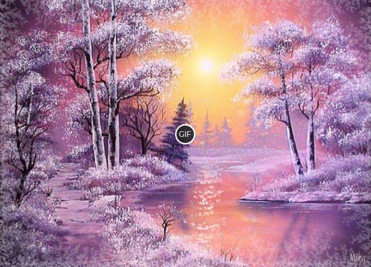 Гиф картинки зима природа