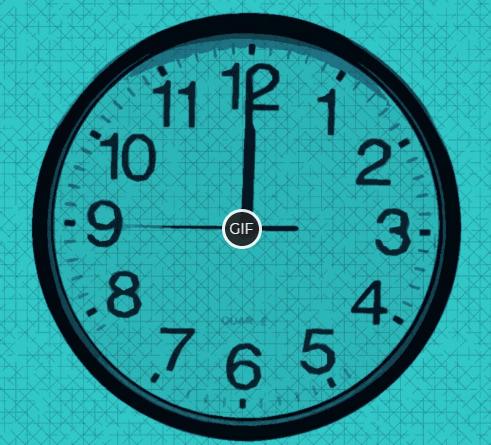 Гифка часы