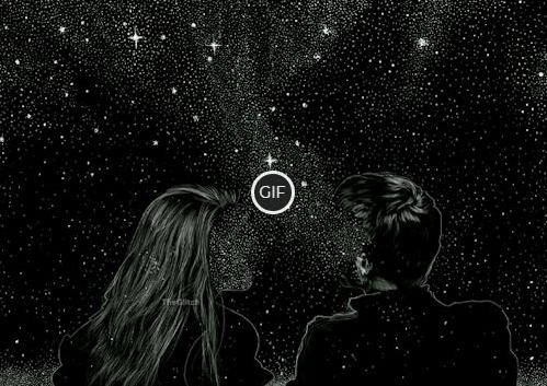 Гифки Звёздное небо ночь