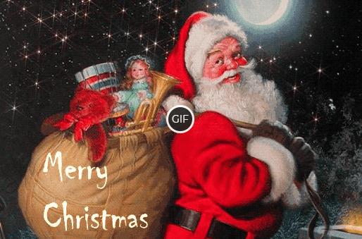 Гифки с Санта Клаусом на Рождество