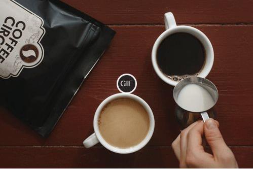 Гифки со сливочным и горячим кофе