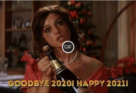 Гифка Прощай 2020 год и счастливого 2021 года