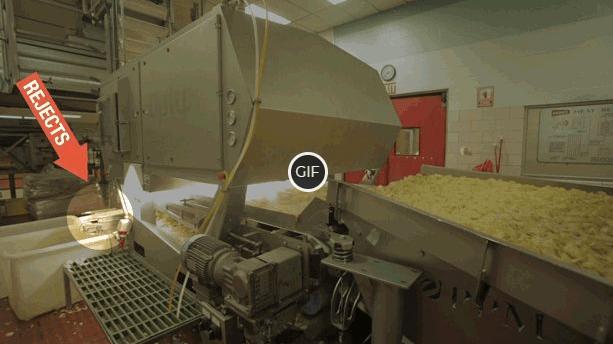 Процесс производства чипсов в гифках