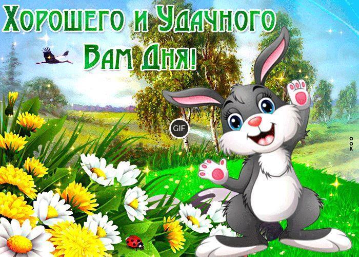 Открытки весенние с пожеланием хорошего дня