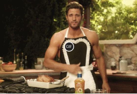 Гифки как мужчина готовит