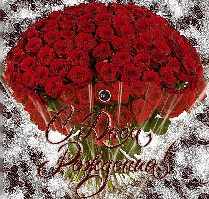 С днём рождения розы картинки красивые живые