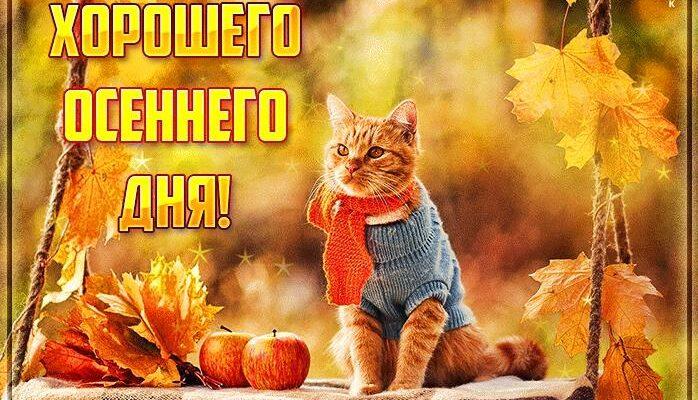 Открытки с пожеланиями хорошего осеннего дня