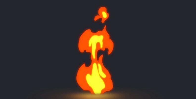 Анимация огня
